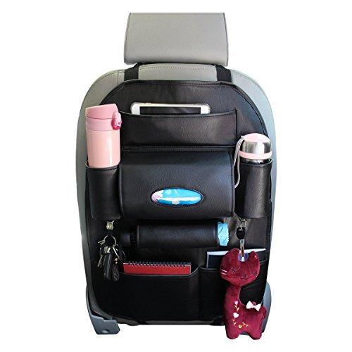 Pelle Tappetino Protettore Contro i Calci del Sedile dell'auto / Auto Organizzatore del Sedile / Auto Sedile per Sedile Organizzatore di tasche multifunzione