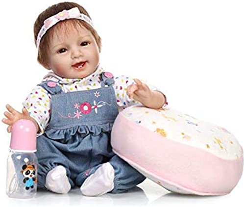CHENG Neugeborenes Baby Dolls Realistische Weißhes Vinyl Silikon 21 Zoll Neugeborenes Baby Dolls Geburtstag Weißnachten Geschenk