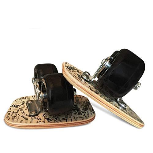 Qinmo Estándar monopatines, Patines patín del Crucero de la Deriva, Freeline Deportes Todo en Uno de Aluminio, for Principiantes Adultos de conducción monopatín de 7 Capas de Arce Cubierta 72 mm * 44