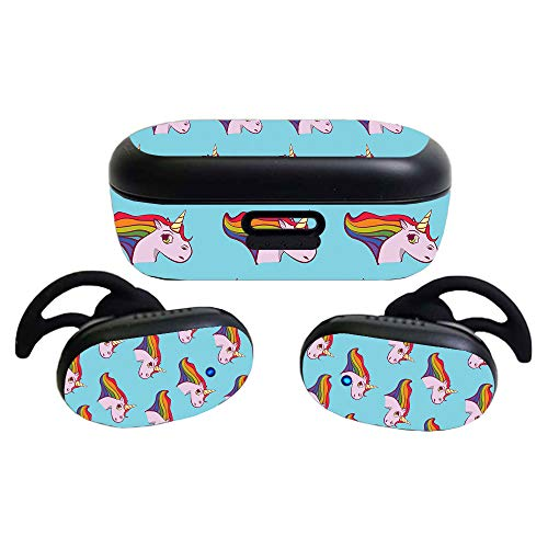 MightySkins Skin Compatible With Bose QuietComfort Earbuds (2020) - Pretty Unicorn | Protective, Durable, and Unique Vinyl Decal wrap cover | Easy To Apply, Remove, and Change Styles | Made in the USA