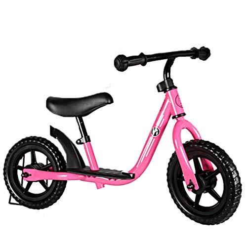 Coche de Equilibrio para niños sin Pedales Bicicleta de Rueda Delantera Andador Bicicleta para Caminar Equilibrio Ajustable Scooter de Coche, Rosa