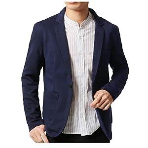 SHEYA メンズ ジャケット テーラードジャケット ニット ビジネス カジュアル 細身 ストレッチ 春 秋