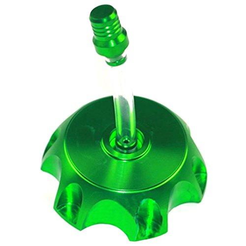 Tankdeckel - TOOGOO(R)CAP 48MM CNC Tankdeckel Entlueftungsventil 90cc Pocket Bike Quad Ein gruener 125CC