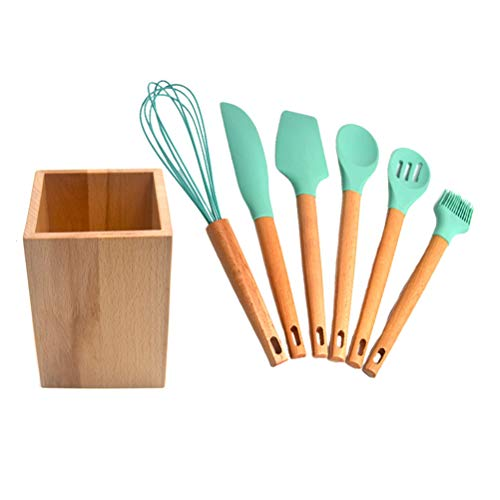 YARNOW Kitchen Cooking Non- Stick Spatula Spoon Tool Kitchenware Set (Seven- Piece Color Box Packaging)