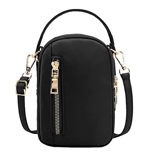 K-Park Umhängetasche Damen,3 Reißverschluss Umhängetasche Handytasche Tasche Ultraleichte wasserdichte Abnehmbare Riemen Brieftasche Geldbörse Handtaschen Für Frauen Welcoming