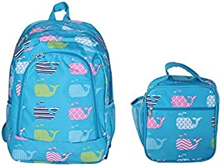 Student Backpack Preschool Bookbags with Insulated Lunch Box Toddler School College Back Bag for Kids Girls Daypack Travel Casual Cute Printed Pattern (NBN-NCC17-27-TO)