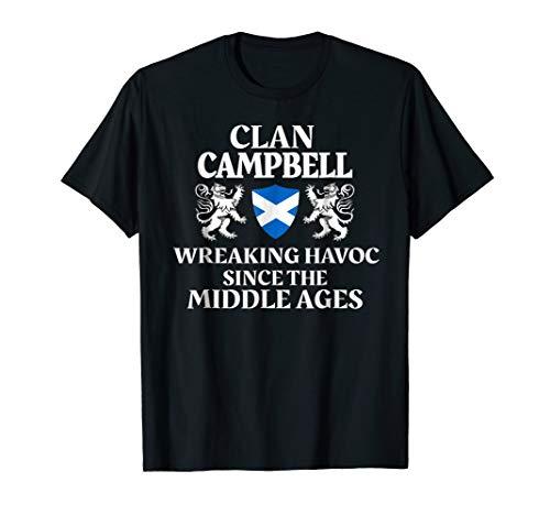 Campbell Scottish Family Clan Scotland Name Lion T-Shirt