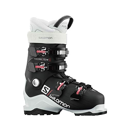 Salomon X Access 70 Wide Ski Boots Womens Sz 10/10.5 (27/27.5) White/Black