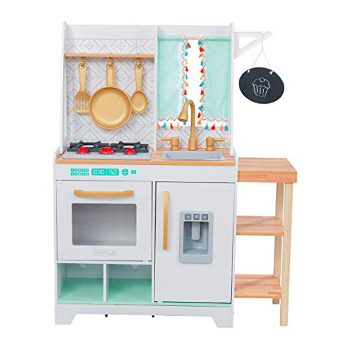 KidKraft Kensington Wooden Play Kitchen is one of the best wooden play kitchen for older kids