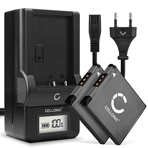 CELLONIC 2X Batería Compatible con Canon PowerShot SX420 SX430 SX410 SX400 SX432 A2500 IXUS 285 180 160 185 145 130 190 Elph 110 Pila Repuesto NB-11L -11LH Cargador CB-2L Coche automóvil Corriente