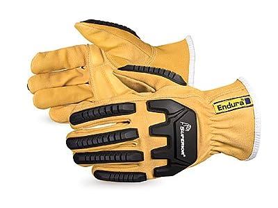 378GKVSBM Endura Oilbloc Goatskin Anti-Impact Driver Gloves, Size Medium