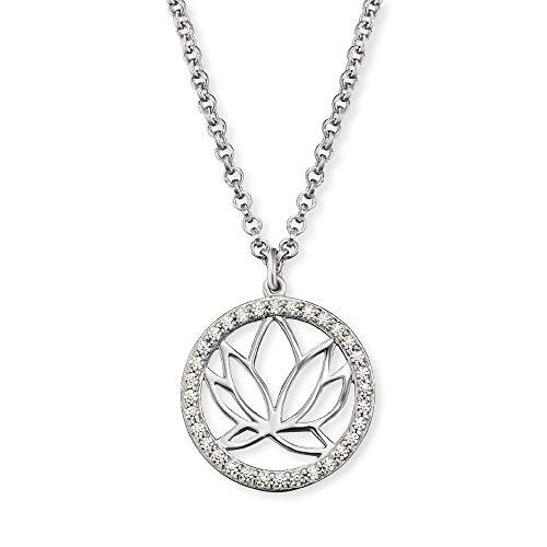 Engelsrufer Silber Damen-Halskette Lotus ERN-LOTUS-ZI