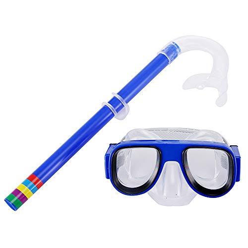 TOPmountain Juego de esnórquel para niños, equipo de buceo de silicona, para niños y niñas de 4 a 8 años