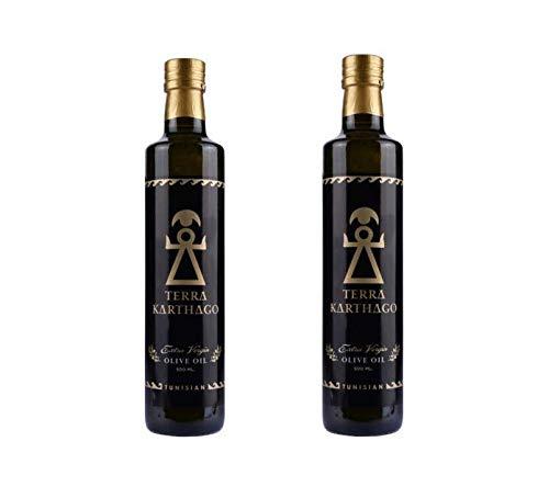 Terra Karthago Olivenöl   Olivenöl extra Vergine   Olivenöl kaltgepresst   Familienproduktion   Bestes olivenöl   2 fl. x500ml   Tunesisch   Natives olivenöl extra