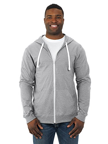 Fruit of the Loom Men's Jersey Full-Zip Hood, Heather Grey, X-Large