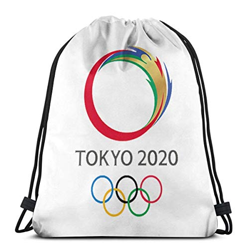 ERTERT Tokyo-2020-png-tokyo-olympics-2020-logo-you-need-to-know-600 Unisex Drawstring Bag Bundle Mochila Multifunción Mochilas con cordón Bolsa de gimnasia
