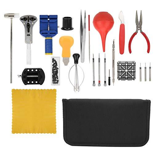 Juego de reparación de relojes, kit de reparación de relojes, kit de herramientas de reemplazo de batería de relojes, kit de reparación de relojes para relojeros, trabajadores de reparación