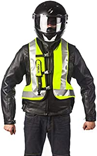 b2628da9d HELITE Unisex-Adult Turtle Motorcycle Airbag Vest (Hi Viz Yellow