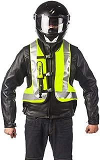 HELITE Unisex-Adult Turtle Motorcycle Airbag Vest (Hi Viz Yellow, Small)