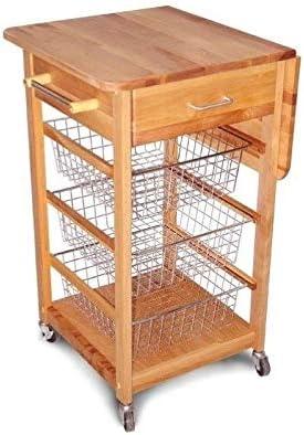 Pemberly Max 56% OFF SALENEW very popular! Row Birch Hardwood Cuisine Kitchen Butcher Cart Block i