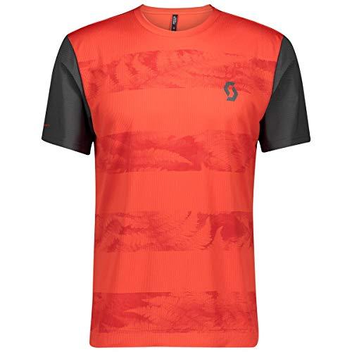 Scott Trail Flow - Maglietta da ciclismo corta, colore: rosso, taglia M (46/48)