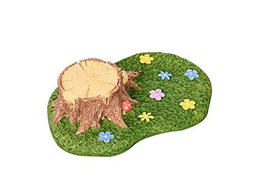 HGJNGHBNG Jardín en Miniatura Micro Paisaje decoración Hierba Stump Resina artesanía Adorno para jardín DIY decoración (Verde)