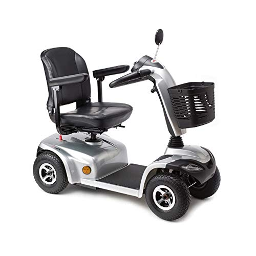 Queraltó Apex I-Tauro, Scooter eléctrico 4 Ruedas, Asiento y Columna de conducción Regulable, Diseño Moderno Plateado, Ruedas antivuelco ✅