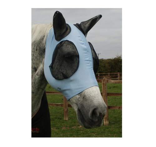 Premier Equine Fliegenmaske Comfort Tech Lycra Fly Mask Größe M, Farbe Blue