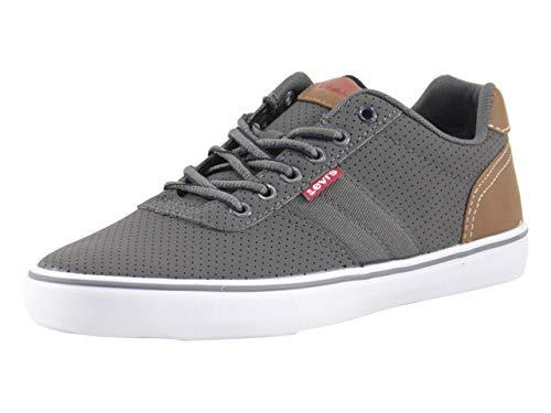 Levi's Mens Miles Perf PU NB Contrast Trim Casual Sneaker Shoe, Charcoal, 9.5 M
