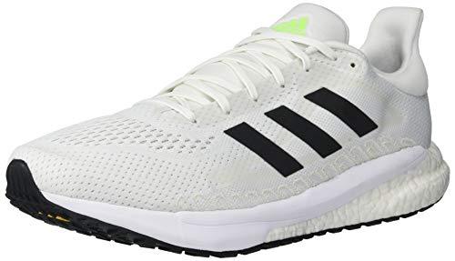 adidas Unisex Solar Glide 3 Running Shoe, White/Black/Signal Green, 10.5 US Men