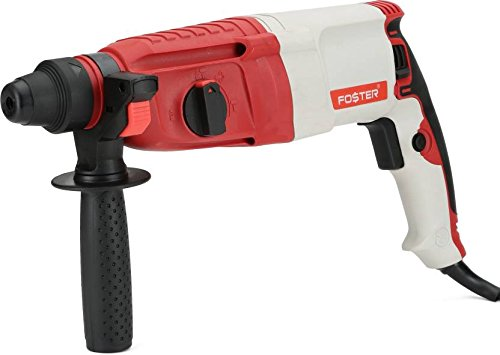 Foster FHD 2-26 DRE 26mm With 3 SDS Bits,2 Chisel,1 Depth Gauge Rotary Hammer Drill Machine (26 mm Chuck Size, 850 W)