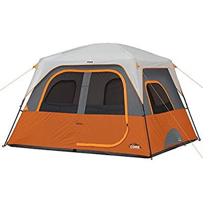 CORE 4/6/6 Person Straight Wall Cabin Tents (6 Person)