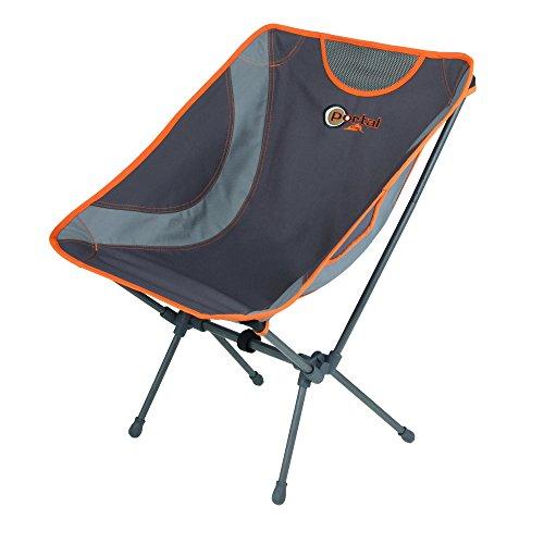 Portail Aaron – Trekking Chaise de Camping 52 x 32 x 35/68,5 cm, 1,4 kg, Charge Max. 100 kg, Très Léger et Super Compact