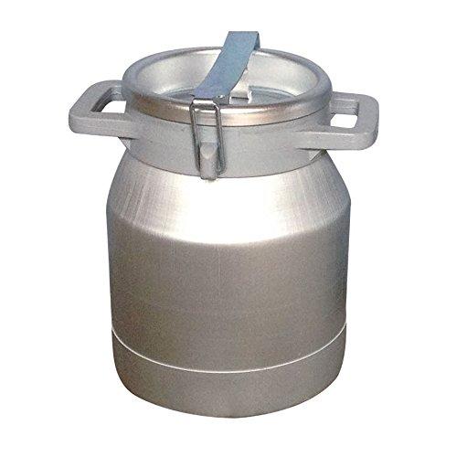 Ellofence Milchkanne 10 Liter – Aluminium mit Deckel