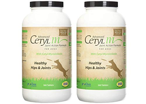 Cetyl M Advanced Dog Joint Action Tablets 360 Count, Pack of 2