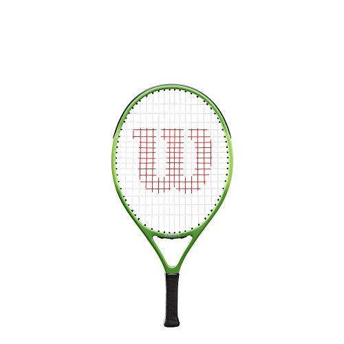 Wilson Tennisschläger, Blade Feel 23, für Kinder von 7 - 8 Jahre, Aluminium/Fiberglas, schwarz/lime, WR027210U