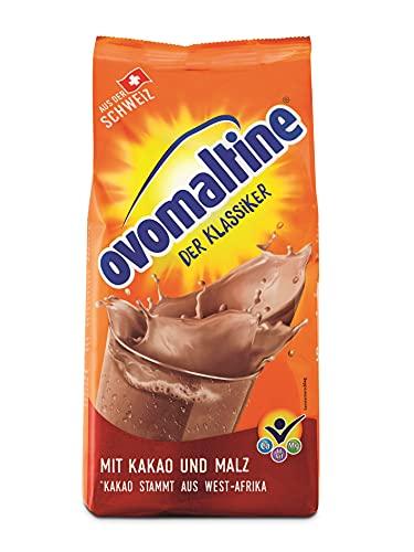 Ovomaltine Kakao-Pulver mit dem einzigartigen Geschmack nach Malz und hochwertigem Cacao, nachhaltig und UTZ-zertifiziert - für heiße Schokolade (1 x 500g)