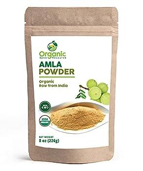 Organic Amla Powder | 8 oz  226g  | Amalaki Non-GMO 100% Raw from India by SHOPOSR