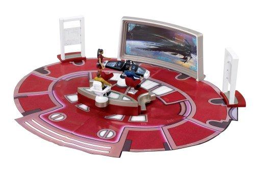 Sablon Star Trek - Puente de Mando de USS Enterprise con Figura del capitán Kirk - Figura Puente de Mando U.S.S Enterprise