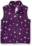 Amazon Essentials Girl's Polar Fleece Vest, Purple Star, X-Small
