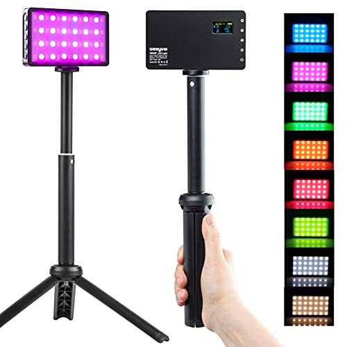 Video Conference Lighting Kit| Broadcast Lighting Kit with Portable Tripod Stand| RGB LED Backlight for Game Zoom Lighting/Live Streaming/Video Recording/Remote Working/Zoom Call Lighting