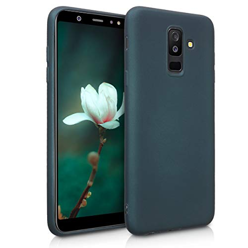 kwmobile Hülle kompatibel mit Samsung Galaxy A6+/A6 Plus (2018) - Handy Case Metallic Petrol
