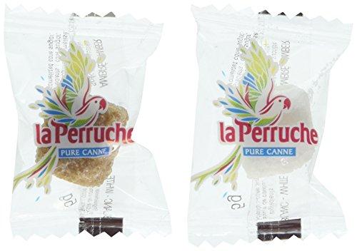 La Perruche 500 Terrones envueltos individualmente de azúcar blanco y moreno - 2,5 kilos