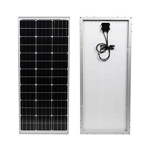 WATTSTUNDE WS Mono Solar 12V Solarmodul Solarpanel monokristallin für Camping Outdoor Wohnwagen Wohnmobil Vorverkabelt mit MC4 Steckern und IP68 Anschlussdose (100W SLIM)