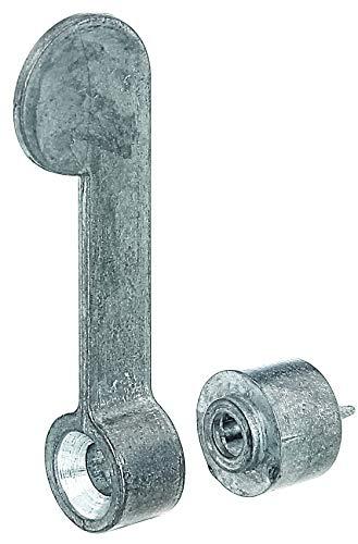 GAH-Alberts 903664 Vorreiber | mit Schließblech und Distanzstück | Zinkdruckguss | Distanzstück: Ø10 mm | Länge Vorreiber: 60 mm | 2er Set