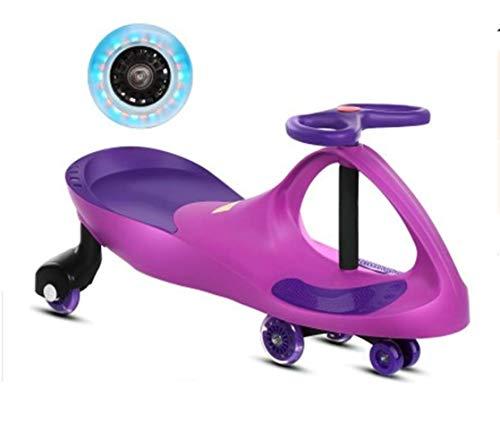 DDPP Swing Auto al Plasma Car Ride Senza Impostazione Flash LED Senza Batteria Twist Go Bambini Bambina E Ragazzo Auto Giocattolo,2