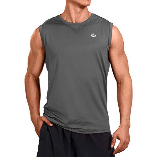 M MOTEEPI Mens Muscle Tank Tops Gym Sleeveless Bodybuilding Tee Shirts Big and Tall Gray M