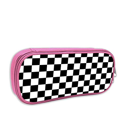 IUBBKI Black Checkerboard Classroom Cute Pencil Bag with Zipper