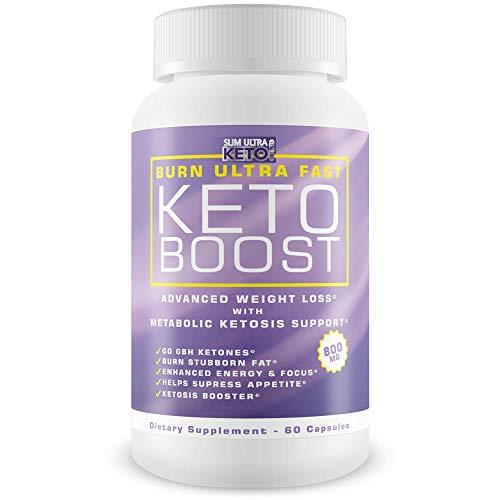Burn Ultra Fast Keto Boost - Diet Keto Pills - Burn More Fat and Accelerate Ketosis Entry - Lose Weight Ultra Fast Pure Keto BHB Formula - Pure Bhb Exogenous Ketones 800 MG