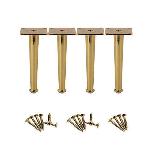 Patas de mesa de muebles Glvanc, 4 patas doradas para muebles de mesa, con carga de 907 kg, patas rectas de 8,87 pulgadas de altura.